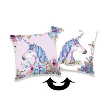Jerry Fabrics Obliečka na vankúšik s flitrami Unicorn 04, 40 x 40 cm