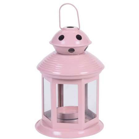 Lampáš na čajovú sviečku Pastels, svetlorůžová