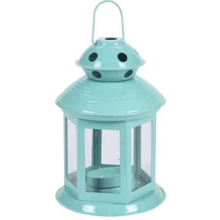Lampáš na čajovú sviečku Pastels, svetlozelená