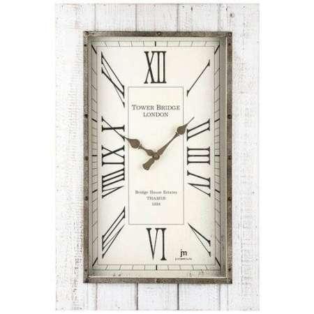 Lowell 21477 Dizajnové nástenné hodiny 60 x 40 cm