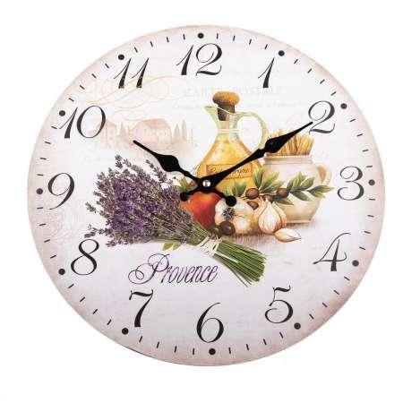 Nástenné hodiny Provence styl, 34 cm