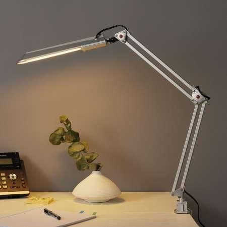 ALCO Lampa na pracovisko PRACY, strieborná