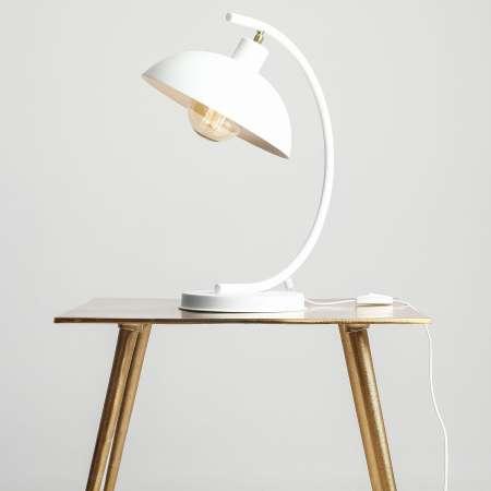 ALDEX Stolná lampa 1036, jedno-plameňová, biela