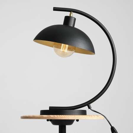 ALDEX Stolná lampa 1036, jedno-plameňové, čierno-zlaté