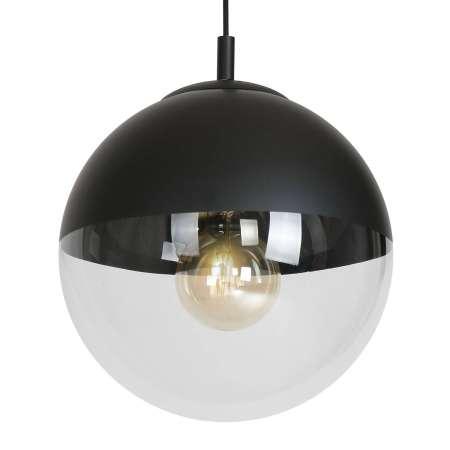 ALDEX Závesná lampa 562, pol číra, pol čierna