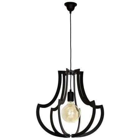 ALDEX Závesná lampa 877 s drevenými tyčami, čierna