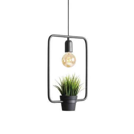 ALDEX Závesná lampa 975 dekór tráva, obdĺžnikový rám