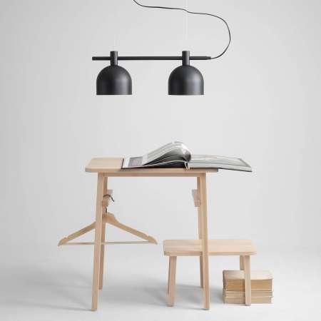 ALDEX Závesná lampa 976, 2-plameňová, čierna