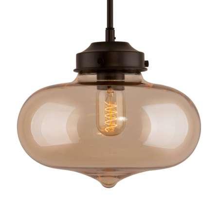 ALTAVOLA DESIGN Závesná lampa LA005 E27 srdce tienidlo sklo jantár