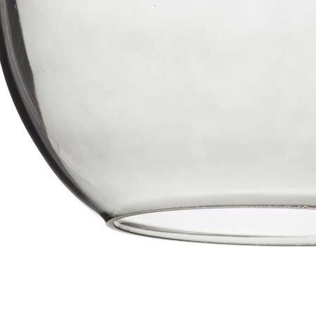ALTAVOLA DESIGN Závesná lampa LA035 E27 okrúhla mosadz/dymová sivá