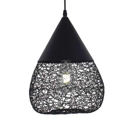 Aluminor Závesná lampa Maroc z ocele, čierna