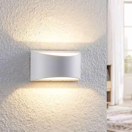 Arcchio Arcchio Jasina nástenná LED, polkruh, biela