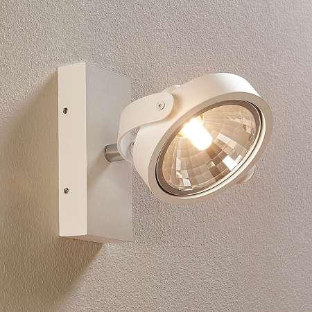 Arcchio Biele bodové LED svetlo Lieven na stenu a strop
