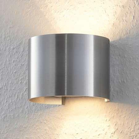 Arcchio Nástenné LED svetlo Zuzana hliníková farba okrúhle
