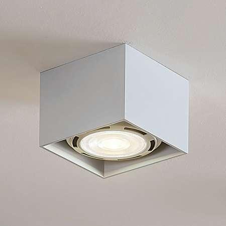 Arcchio Stropné LED svietidlo Mabel hranaté biele