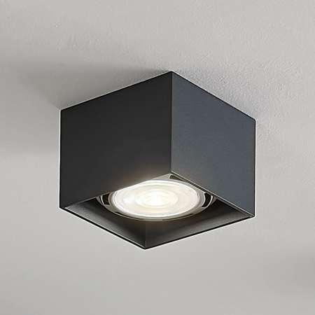 Arcchio Stropné LED svietidlo Mabel hranaté tmavosivé