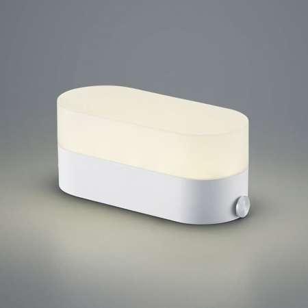 B-Leuchten B-Leuchten Case stolná lampa, USB port, svetlosivá