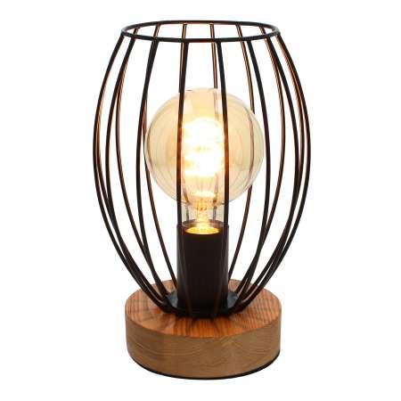 BRITOP Stolná lampa Beevly s klietkovým tienidlom