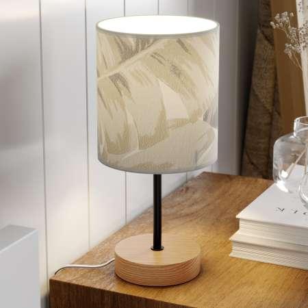 BRITOP Stolná lampa Lobos potlačené papierové tienidlo