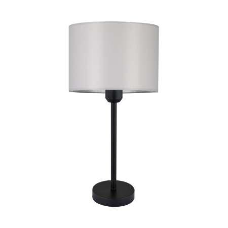 BRITOP Stolná lampa Maarit textilné tienidlo, sivá/čierna