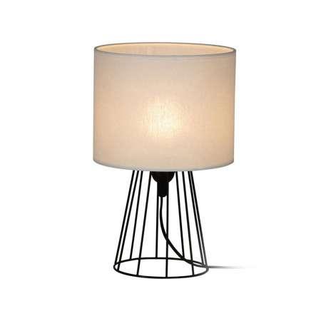 BRITOP Stolná lampa Valene s textilným tienidlom, 32cm