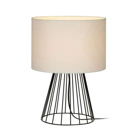 BRITOP Stolná lampa Valene s textilným tienidlom, 44cm