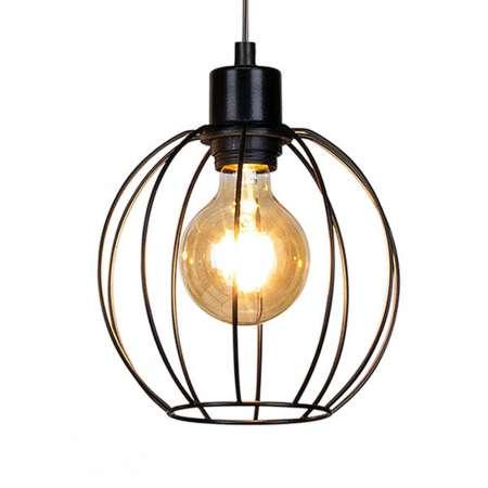 BRITOP Závesná lampa Kaysie s klietkovým tienidlom