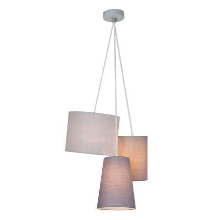 Brilliant 3-plameňová závesná lampa Trial textilné tienidlá
