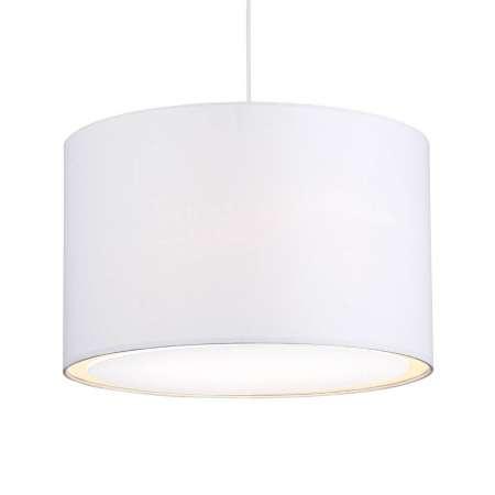 Brilliant Klasicky-moderná závesná lampa Clarie, biela
