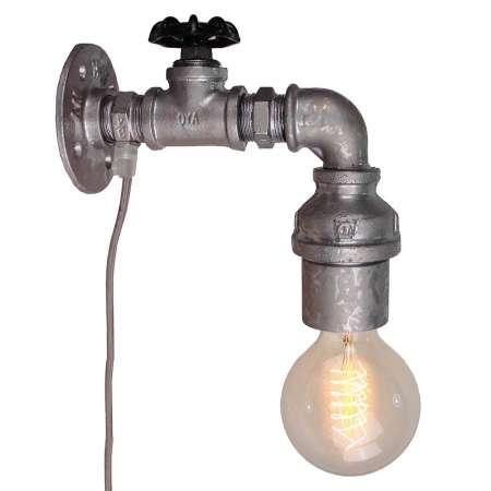 Brilliant Nástenné svietidlo Pipe s vypínačom