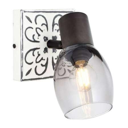 Brilliant Nástenné svietidlo Tolosa otočné sklenené tienidlo