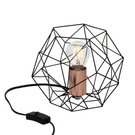 Brilliant Stolná lampa Synergy s klietkovým tienidlom