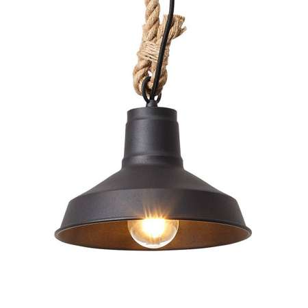 Brilliant Závesná lampa Hank s lanovým zavesením, hnedá
