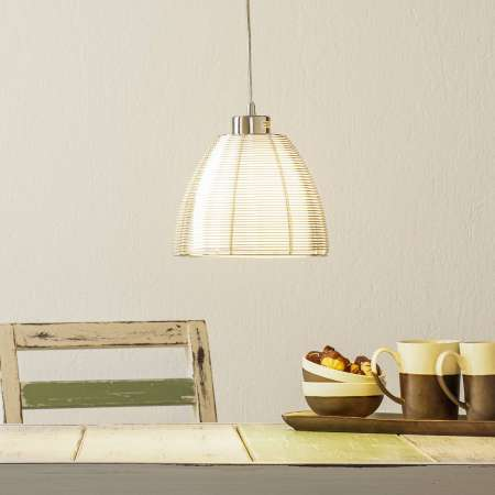 Brilliant Závesná lampa Relax, 1-plameňová 19cm chróm