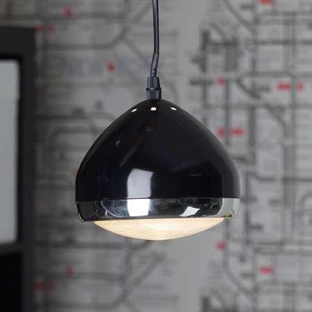 Brilliant Závesná lampa Rider, 1-pl., čierna