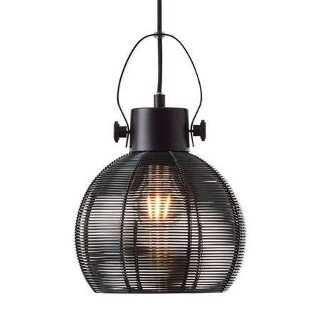 Brilliant Závesná lampa Sambo klietkové tienidlo 1-pl čierna