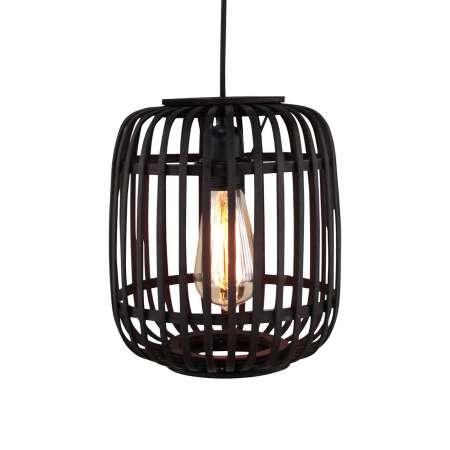 Brilliant Závesná lampa Woodrow bambusové klietkové tienidlo