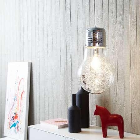 Brilliant Žiarivá sklenená závesná lampa Bulb, chróm