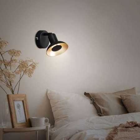 Briloner Nástenné LED svietidlo Kukui, jedno-plameňové
