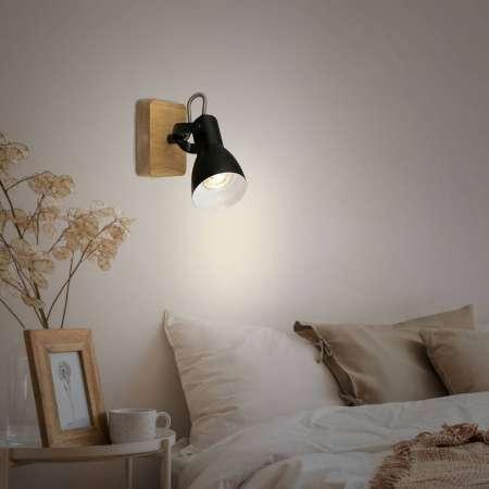 Briloner Stropné svetlo Arbo drevený prvok, 1-plameňové
