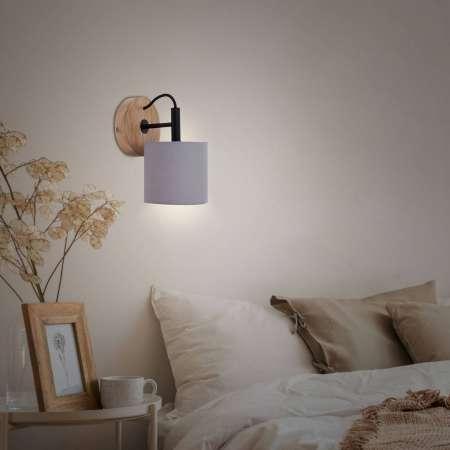 Briloner Wood & Style 2075 nástenné svetlo tienidlo textil