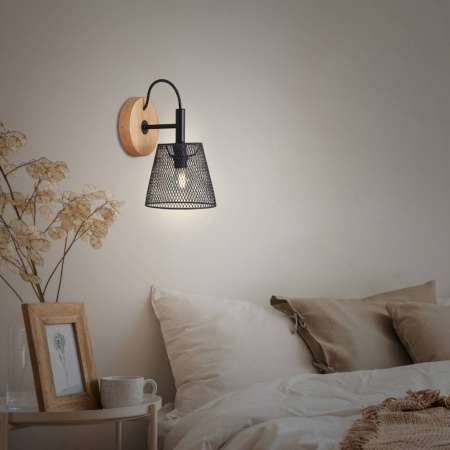 Briloner Wood & Style 2077 nástenné svietidlo mrežovina