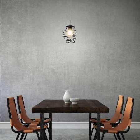 Briloner Závesná lampa Black Steel 4870, 1-plameňová