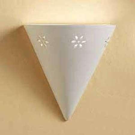 Ceramiche Nástenné svietidlo Cono z bielej keramiky