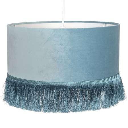 Clayre & Eef Závesná lampa 0464 s plastovým tienidlom, modrý