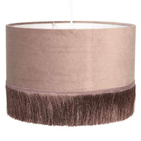 Clayre & Eef Závesná lampa 0464 s plastovým tienidlom ružová
