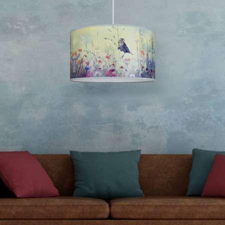 DUOLLA Potlačená závesná lampa Bird