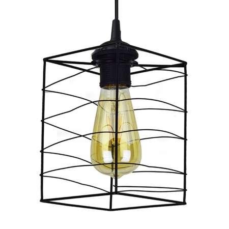 DUOLLA Závesná lampa Dantos, 1-plameňová, čierna
