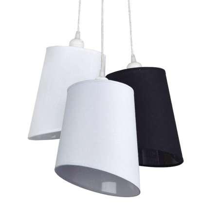 DUOLLA Závesná lampa Verona 3-pl., biela/sivá/antracit