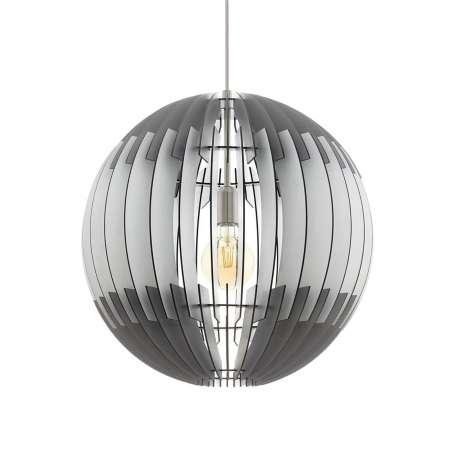 EGLO Čierno-biela závesná lampa Olmero z lamiel